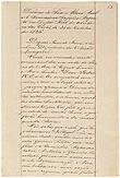 Primeira página do discurso da Infanta Regente, D. Maria, na abertura das Cortes em 30 de Outubro de 1826, depois de outorgada a