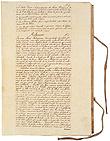 Primeiro Decreto aprovado, proclamando a legitimidade da Revolução de 1820 e os objectivos das Cortes