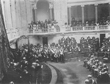 Abertura a I Legislatura do reinado de D. Manuel II que lê o discurso da Coroa - Foto de Benoliel, 29 de Abril de 1908