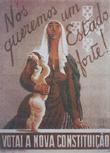 Cartaz de Almada Negreiros para o plebiscito constitucional de 1933 (B.M.R.R.)