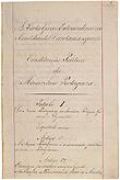 Primeira página da Constituição de 1838