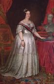 Retrato da Rainha D. Maria II, réplica do original de F. Krumholz, realizado em 1846